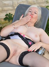 British granny masturbating in her